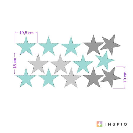 Wandtattoo Turquoise Sterne