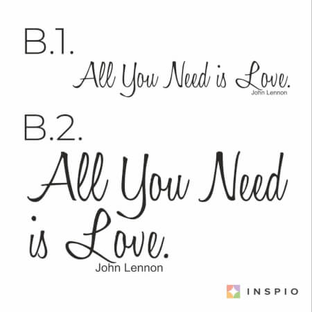 Falmatrica idézet - All You Need is Love