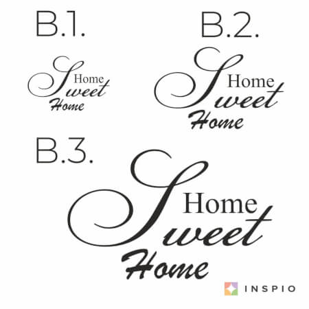 Autocollant mural - Home sweet home