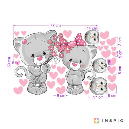Sticker - Chatons amoureux
